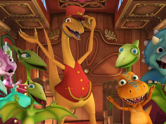 Поезд динозавров (Тайни и крокодил. Встреча с бабушкой и дедушкой, Похититель яиц? В гости к бабушке и дедушке)